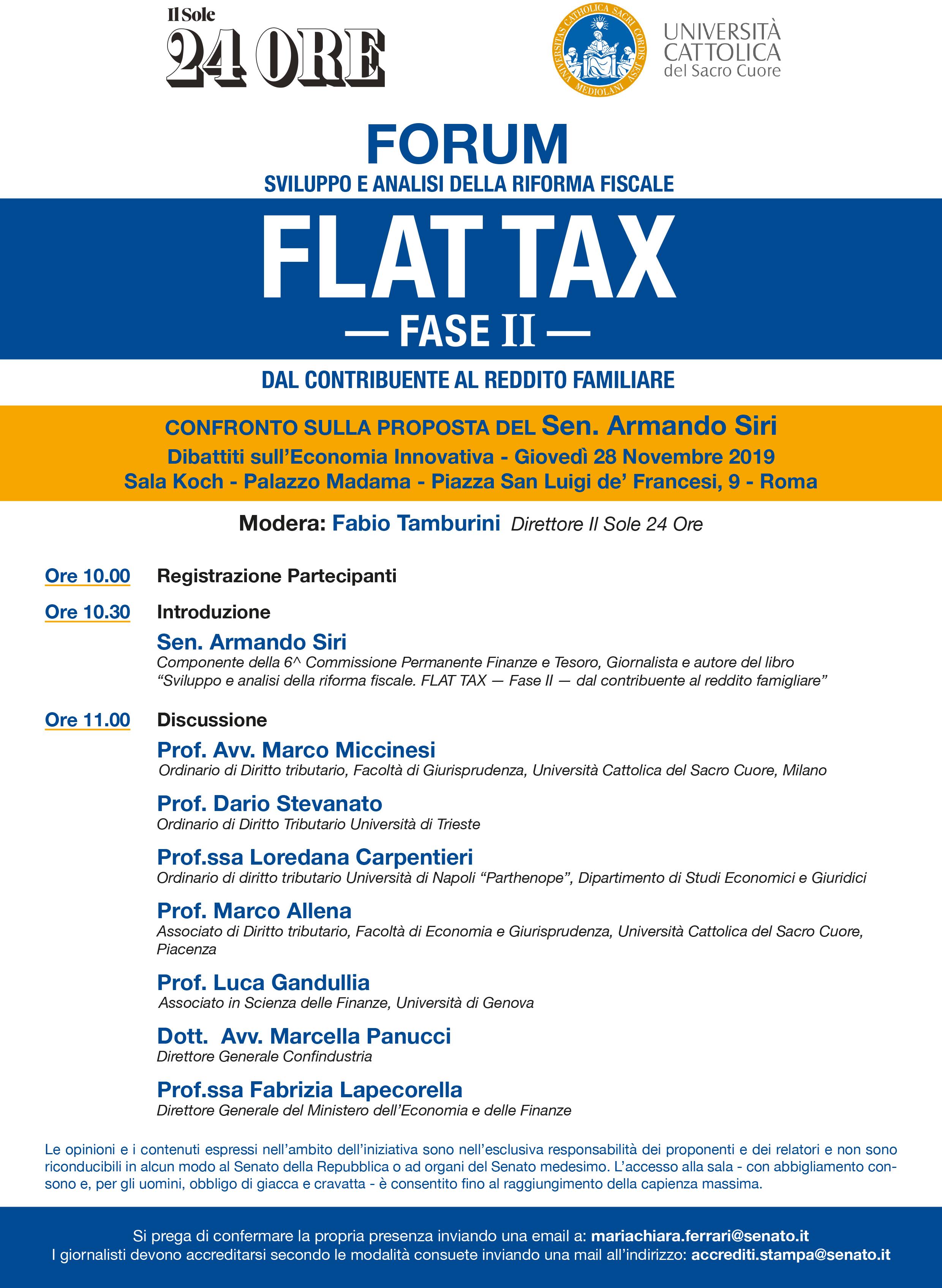 forum flat tax locandina